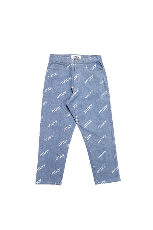 Goodboy Printed Denim Pants - Blue