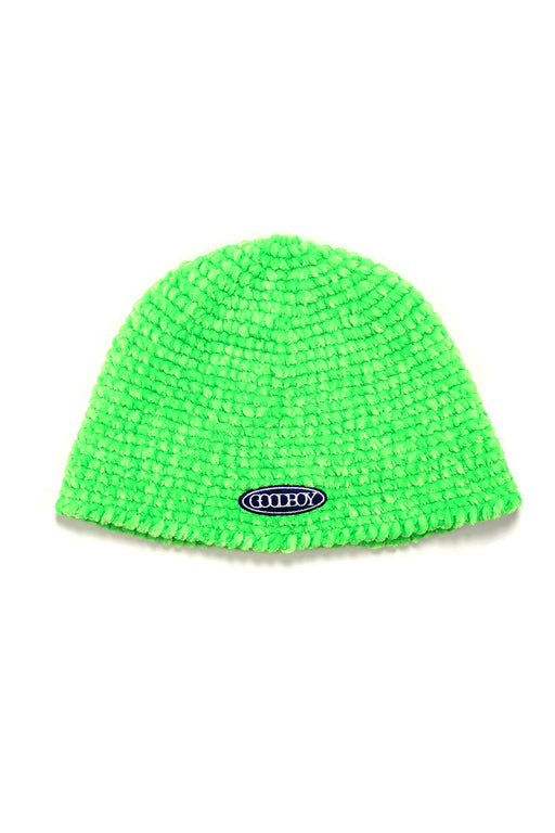 Knitted Bucket Cap - Green