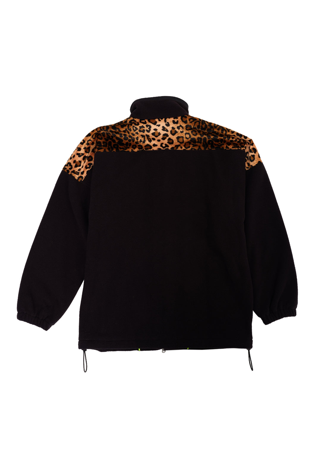 Oversized Leopard Fleece - Black/Leopard