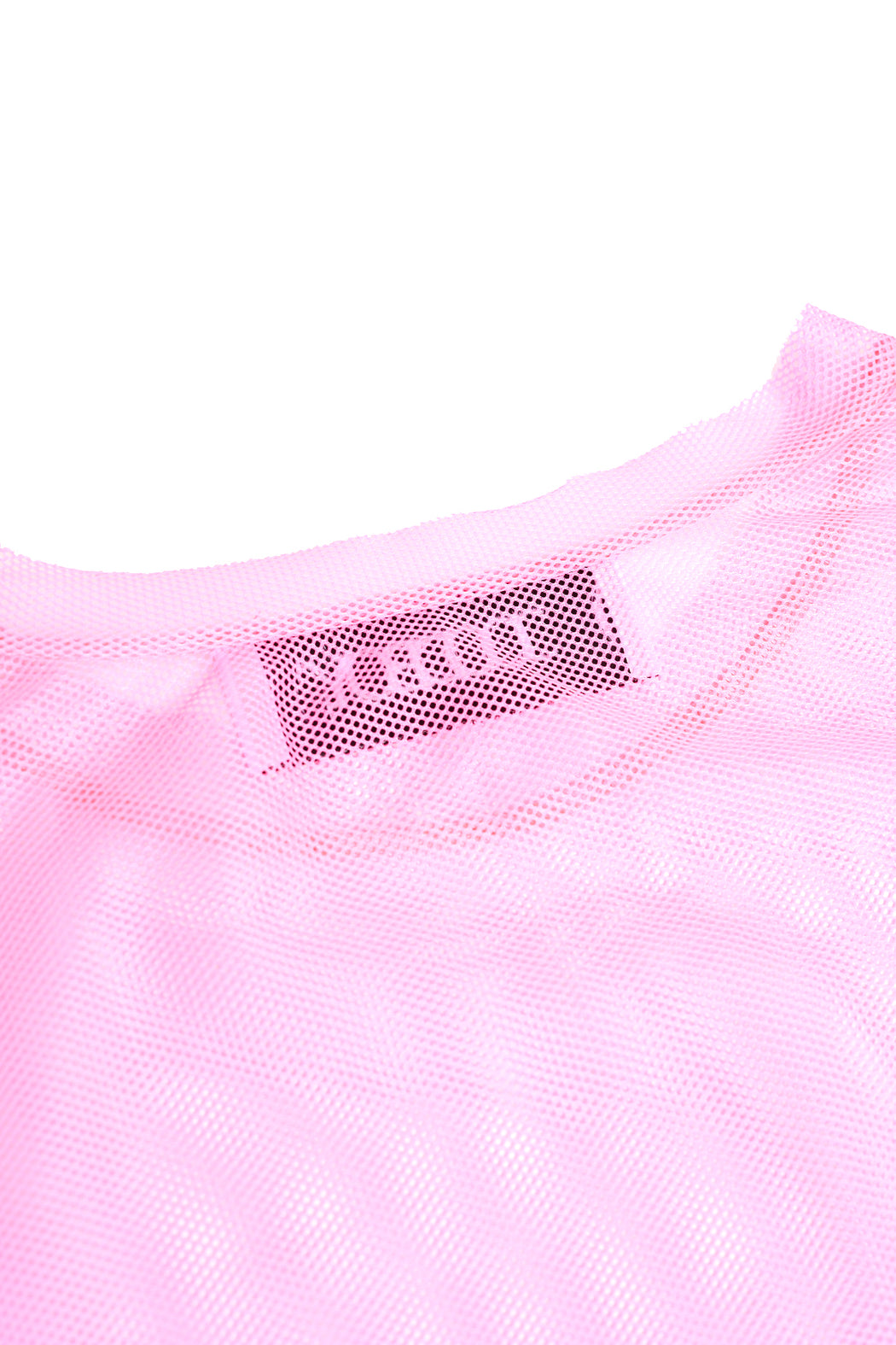 Oversized L/S Mesh Shirt - Pink