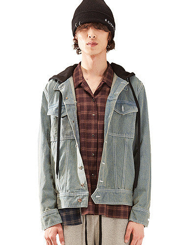 Hood Denim Jacket