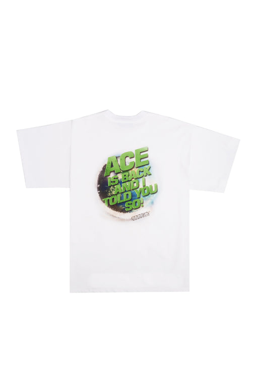 Oversized Ace Print Tee - White