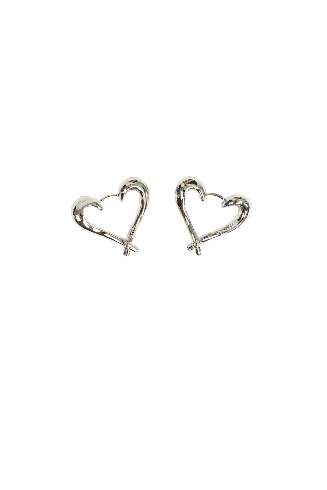 Heart Twist Earring - Silver