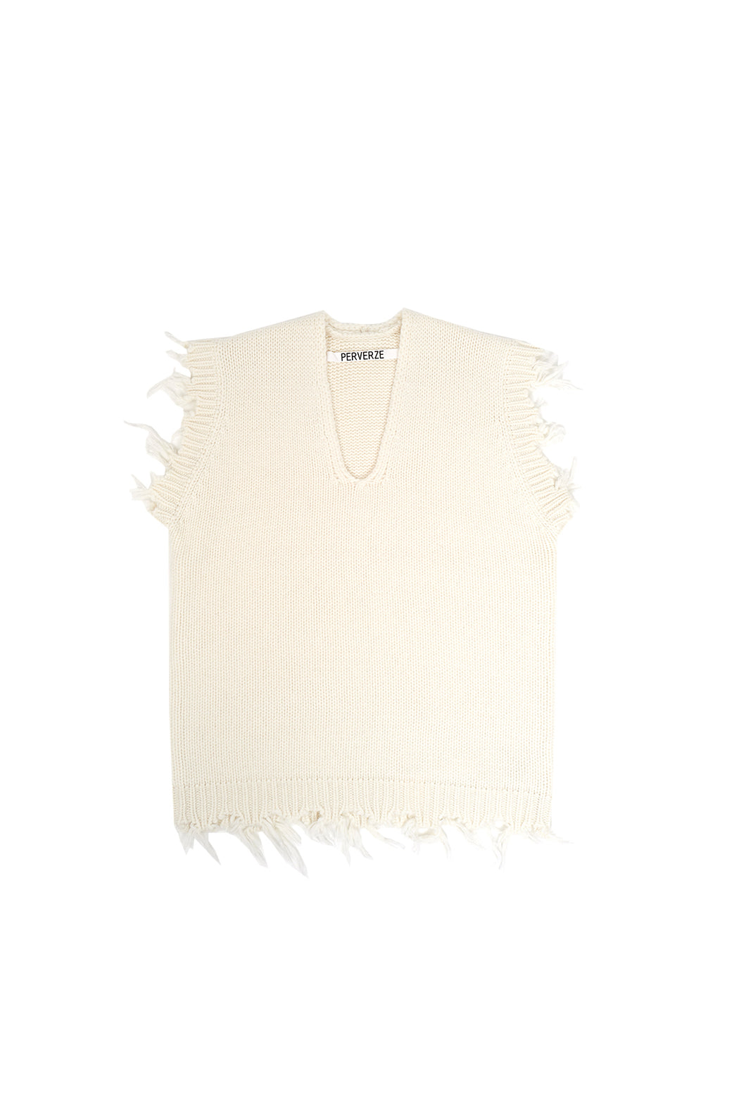 Crash Boxy Knit Vest - White