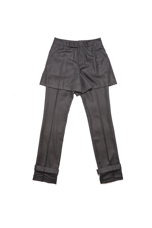 Double Layered Pants - Grey