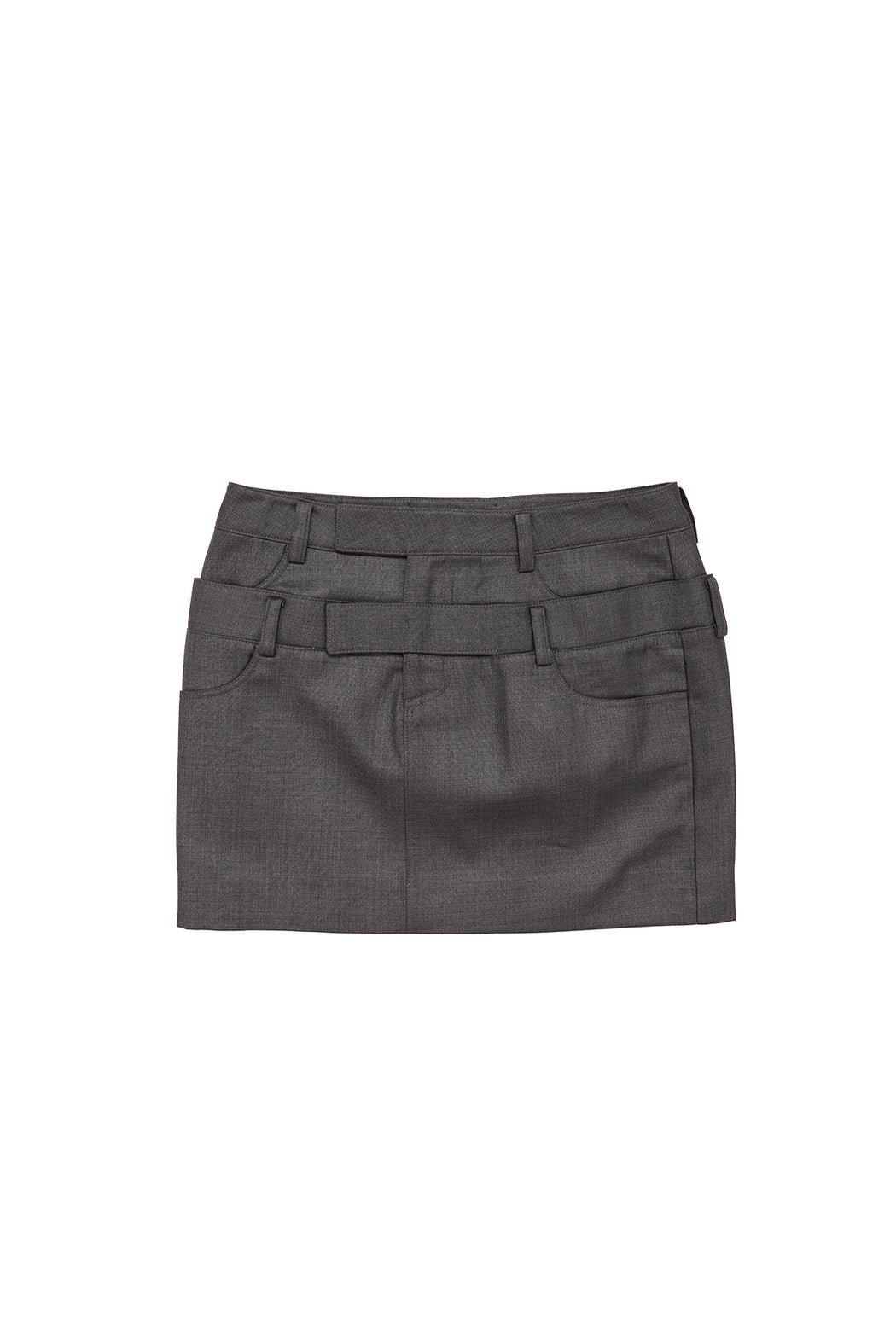 Double Layered Skirt - Grey