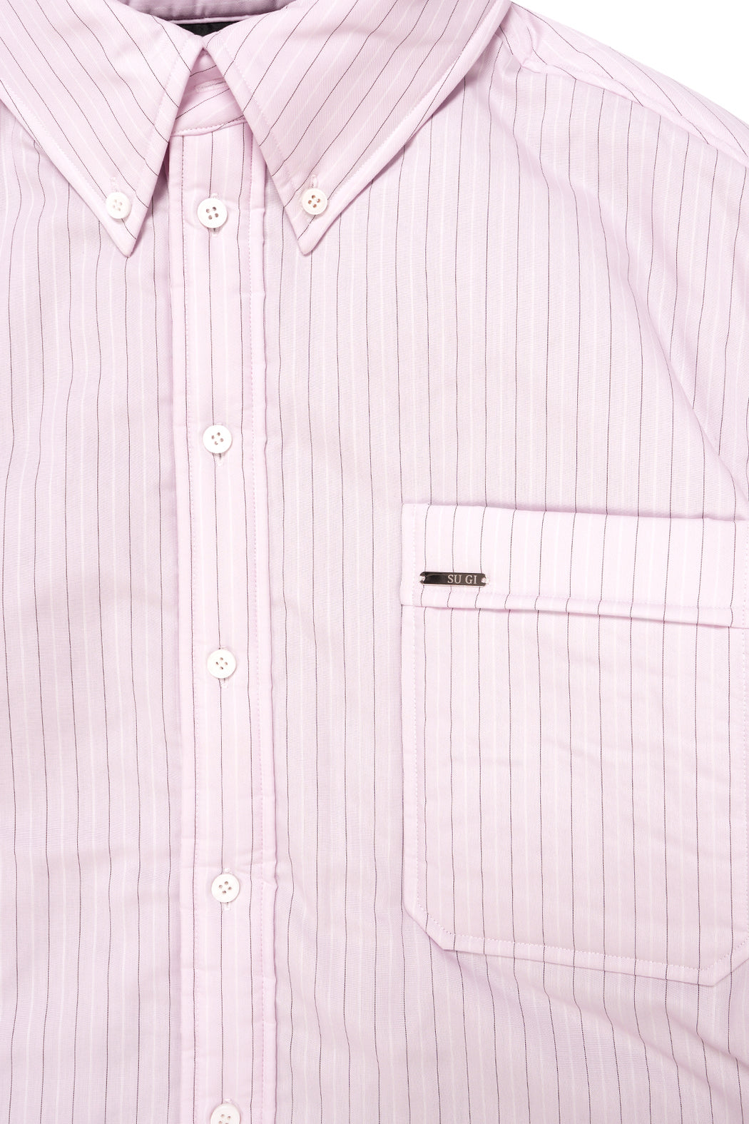 Padded Stripe Shirt - Pink