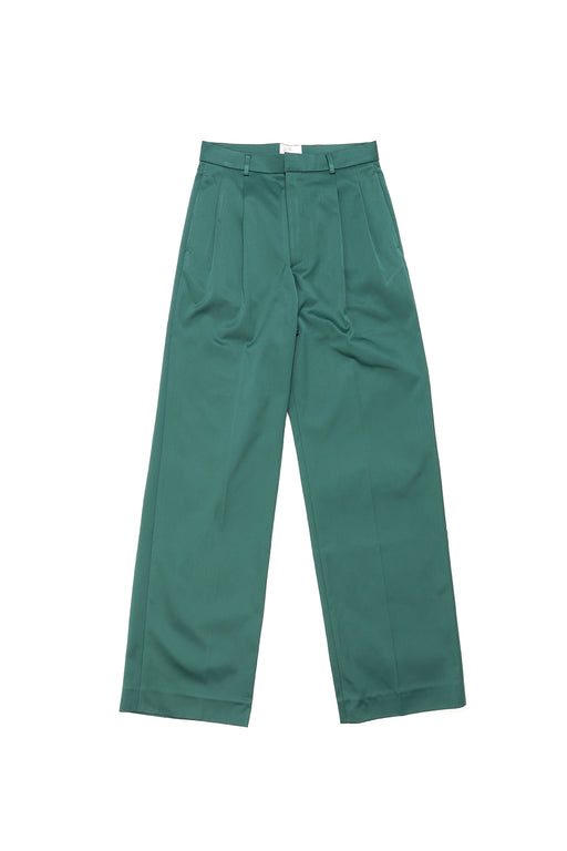 Wide Leg Trousers - Green