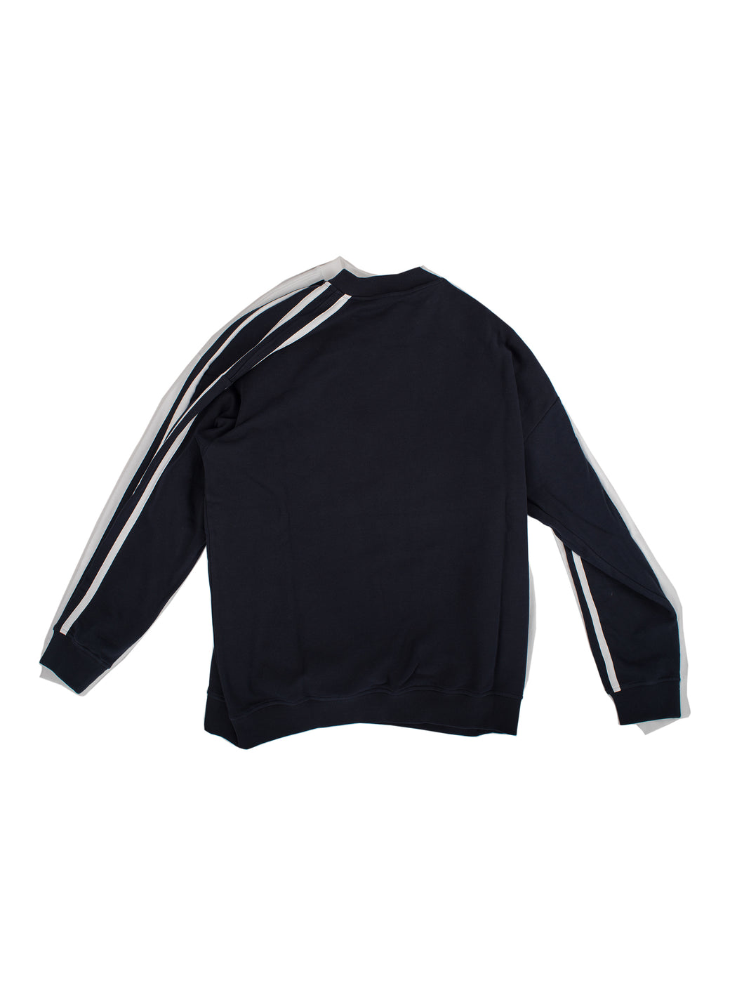 Double Sweater - Navy/White