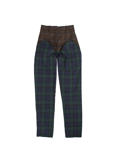 Cut-out Trousers - Blue/Green