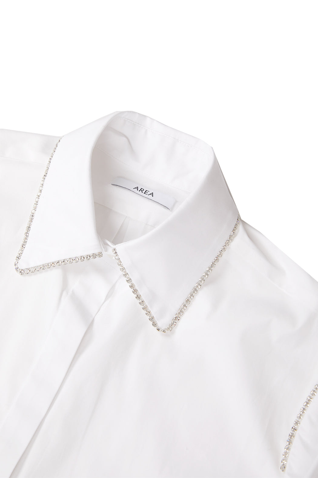 Button Down with Cargo Pocket Sleeve - White