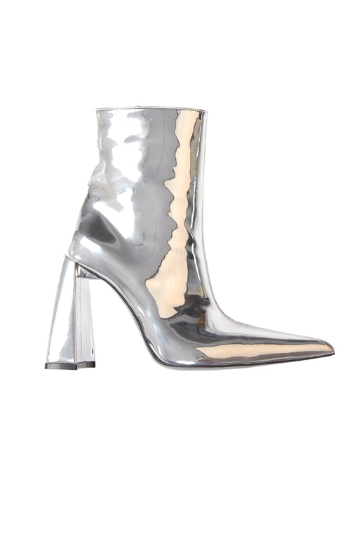 """A"" Heel PVC Boot - Silver"