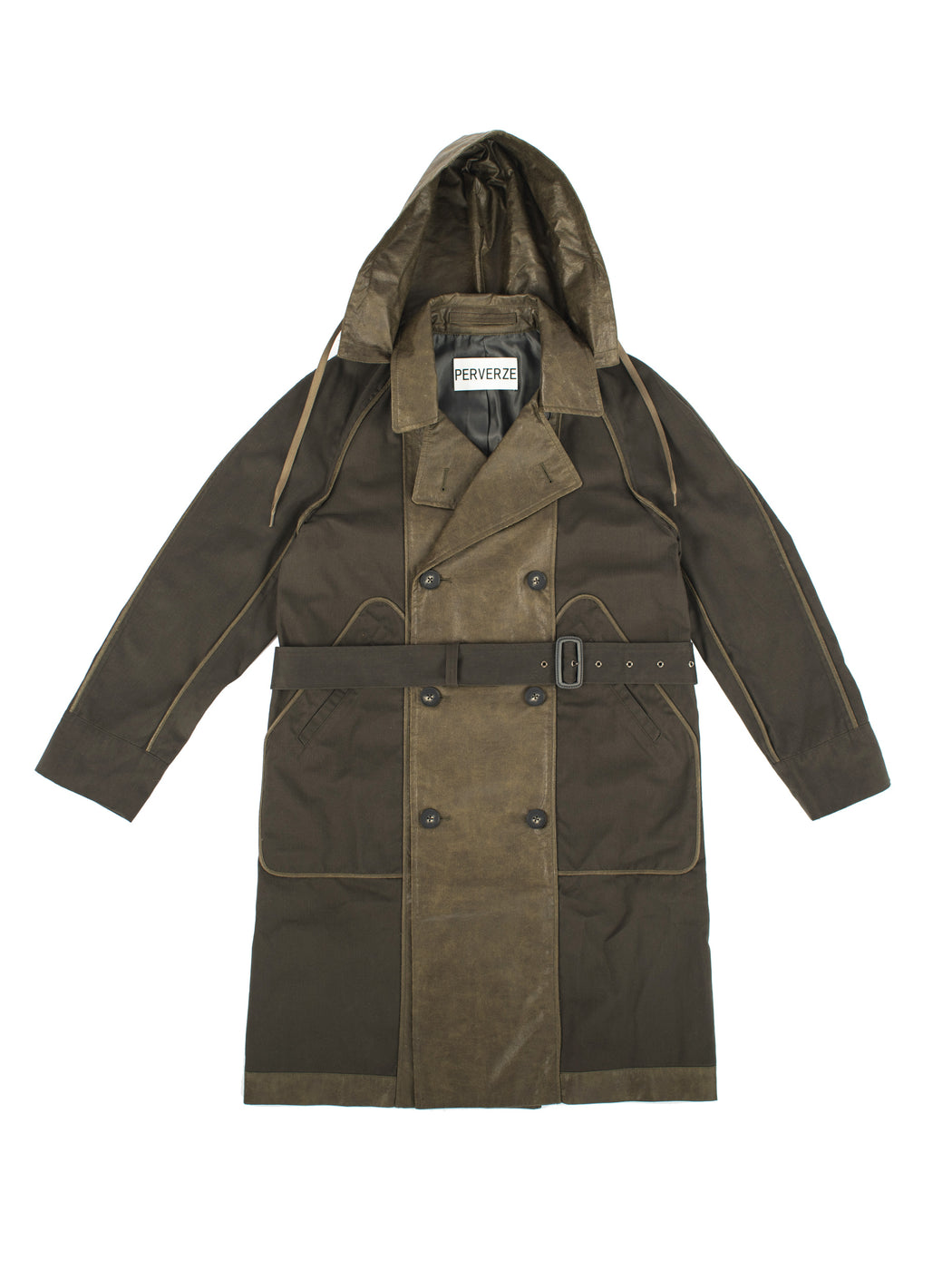 Combination Trench Coat - Green