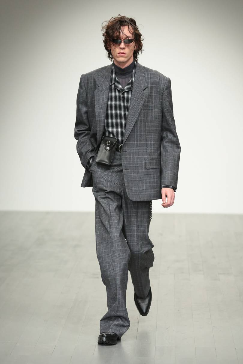 Check Trousers - Grey Plaid