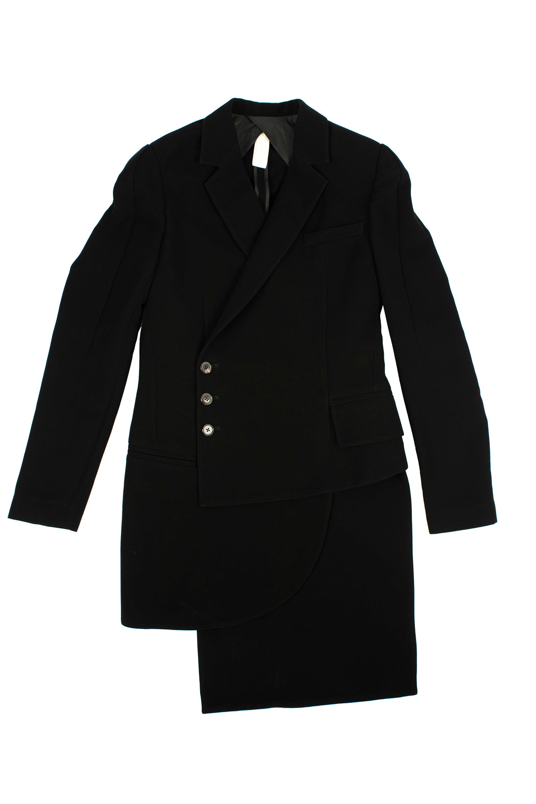 Triple Layered 3 Button Coat - Black