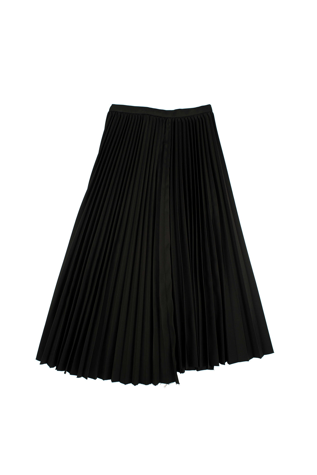 Unbalanced Hem Skirt - Black