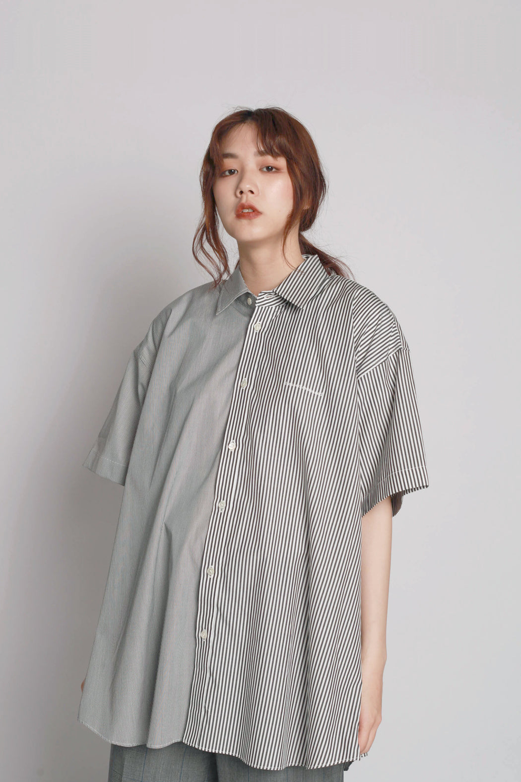 Contrast Short Sleeve Shirt - Black