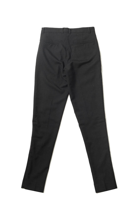 White Stitch Slim Trousers - Black