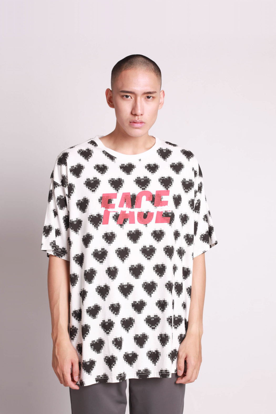 Oversized Heart Tee - White