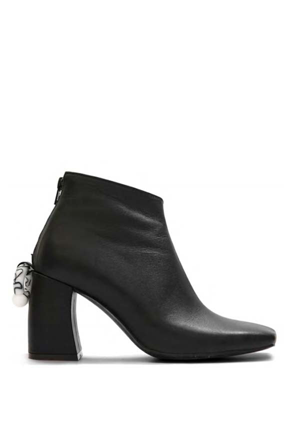Square Toe Ankle Boot - Black
