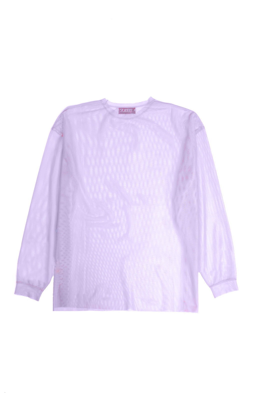 Oversized L/S Mesh Shirt - Light Purple