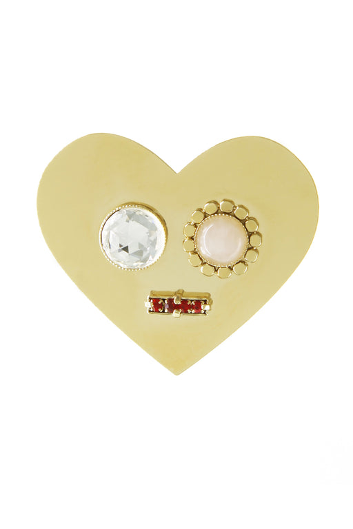 Smile Brooch - Gold