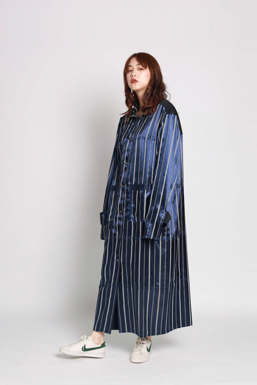 Panel Coat - Striped