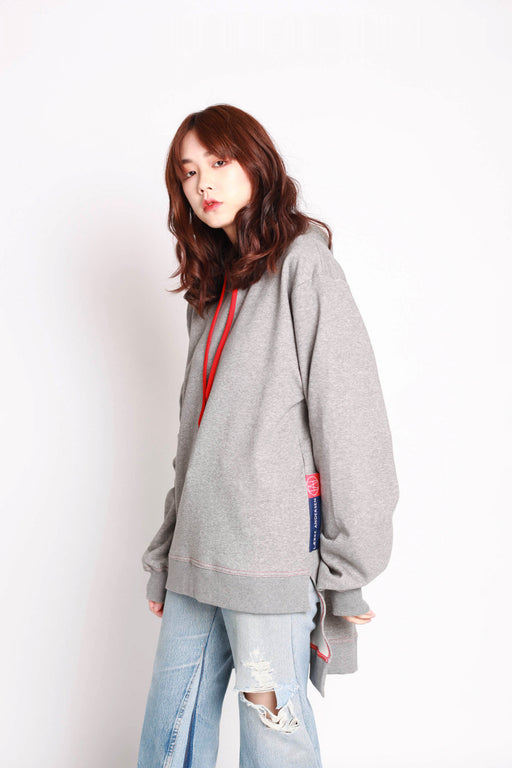 Trail Hoodie - Grey/Red