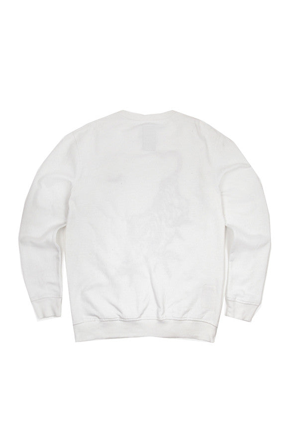 Line Tiger Crew Sweat - Optic White