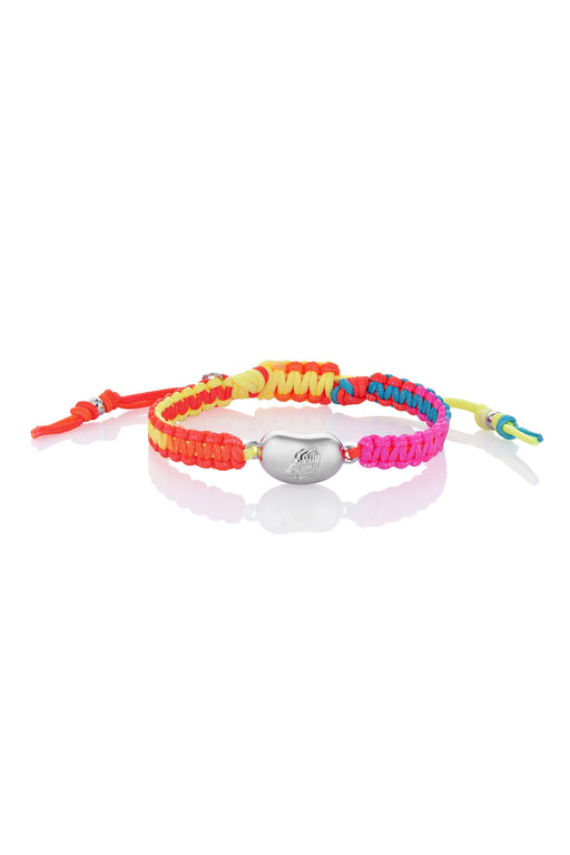 Jelly Bean Friendship Bracelet - Silver