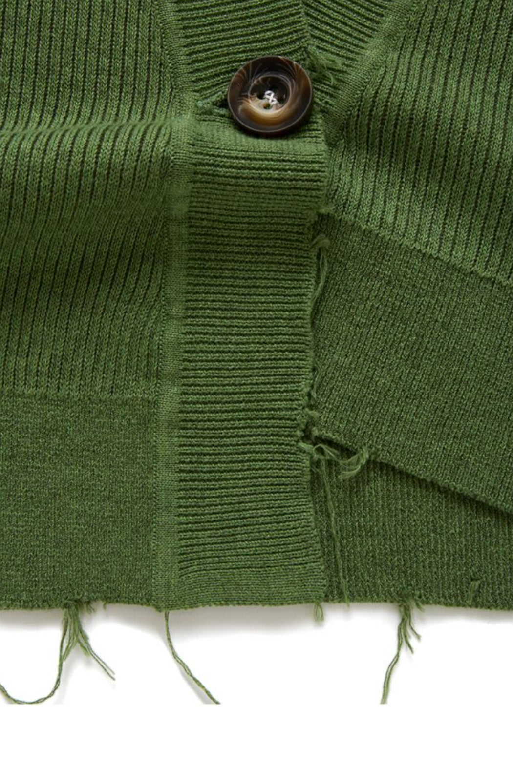 Double Face Rib Cardigan - Green