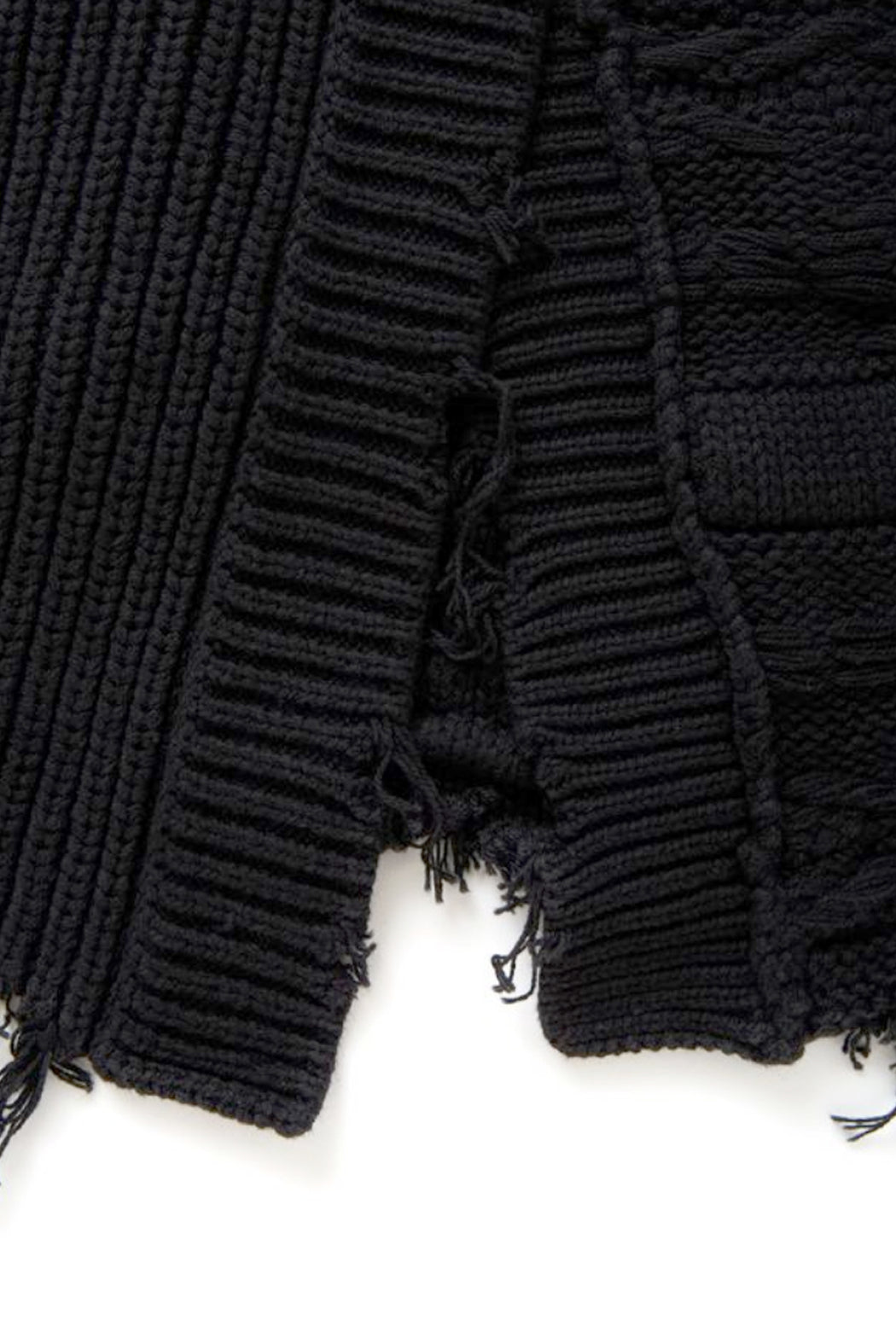 Wave Stripe Crash Knit - Black