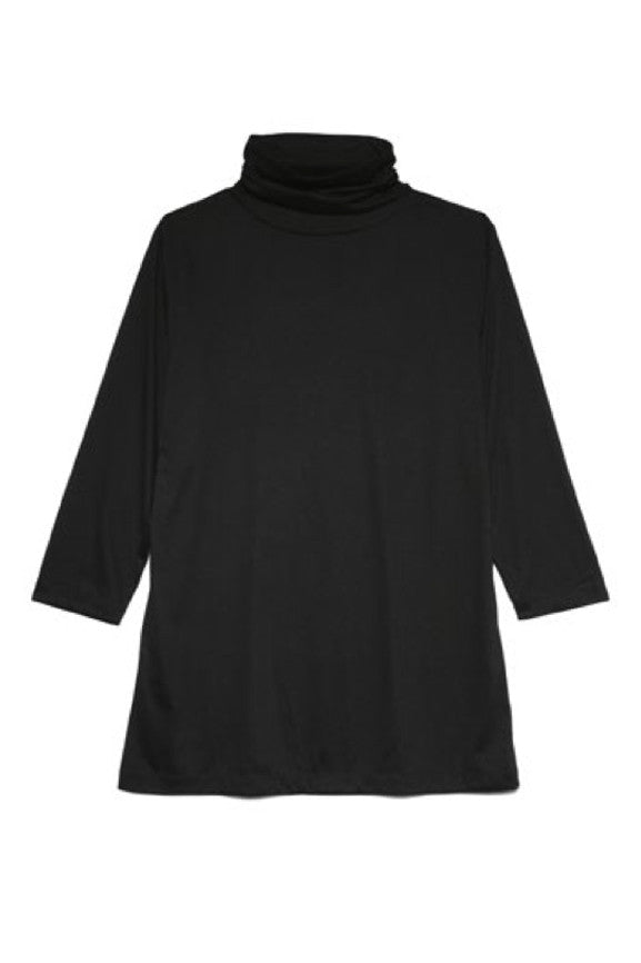 Turtle Neck Jersey - Black