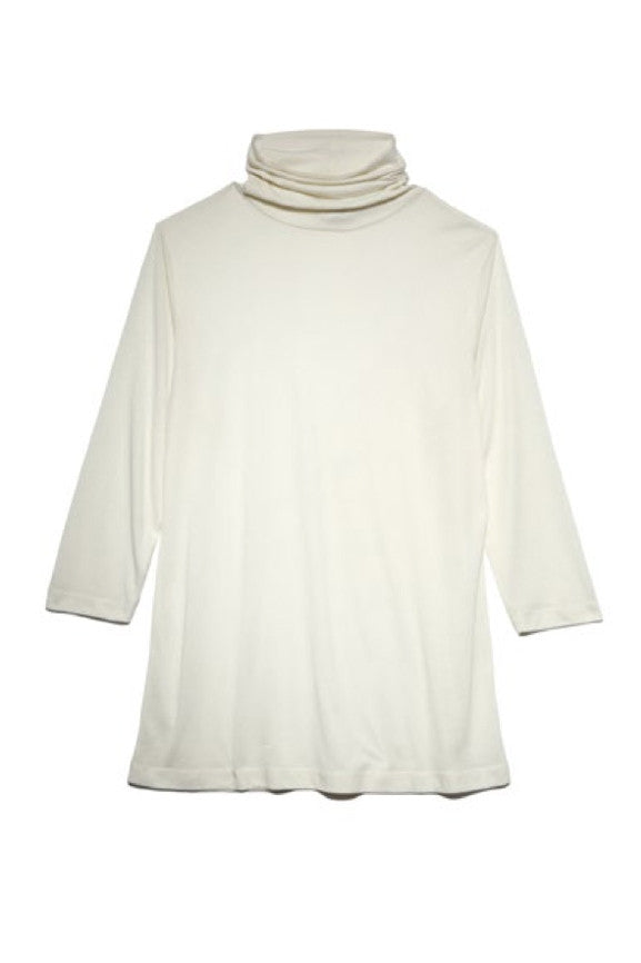 Turtle Neck Jersey - White