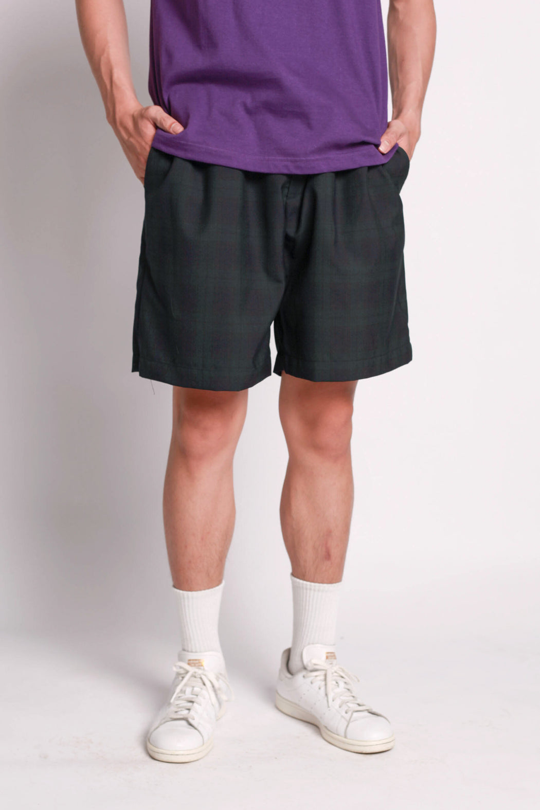 Check Shorts - Dark Green