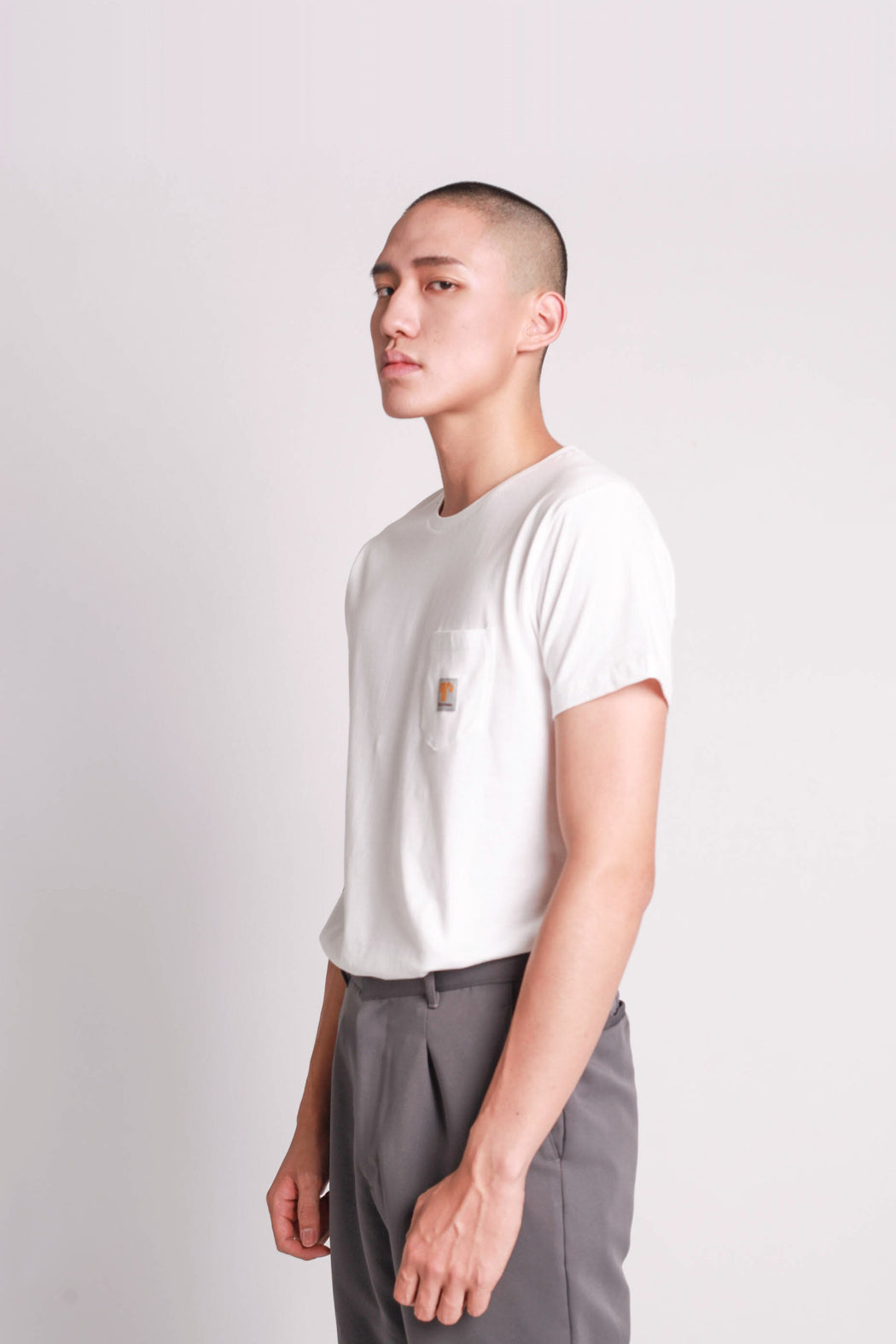 Logo Pocket Tee - White