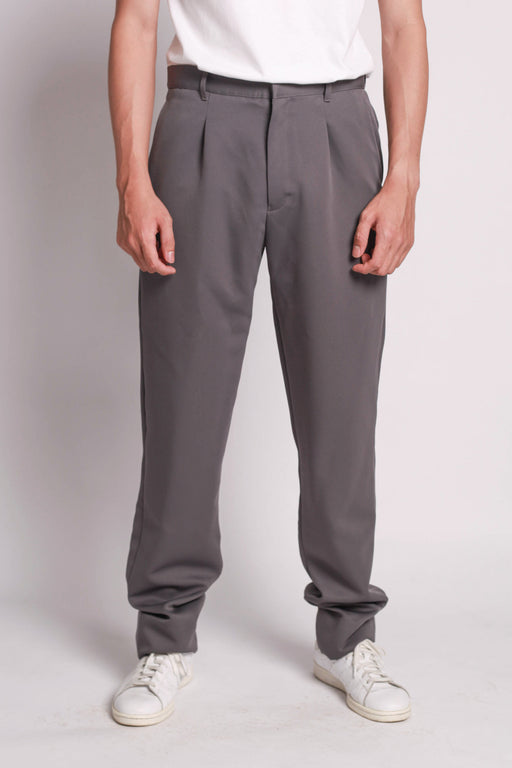 Tuck Slacks - Grey