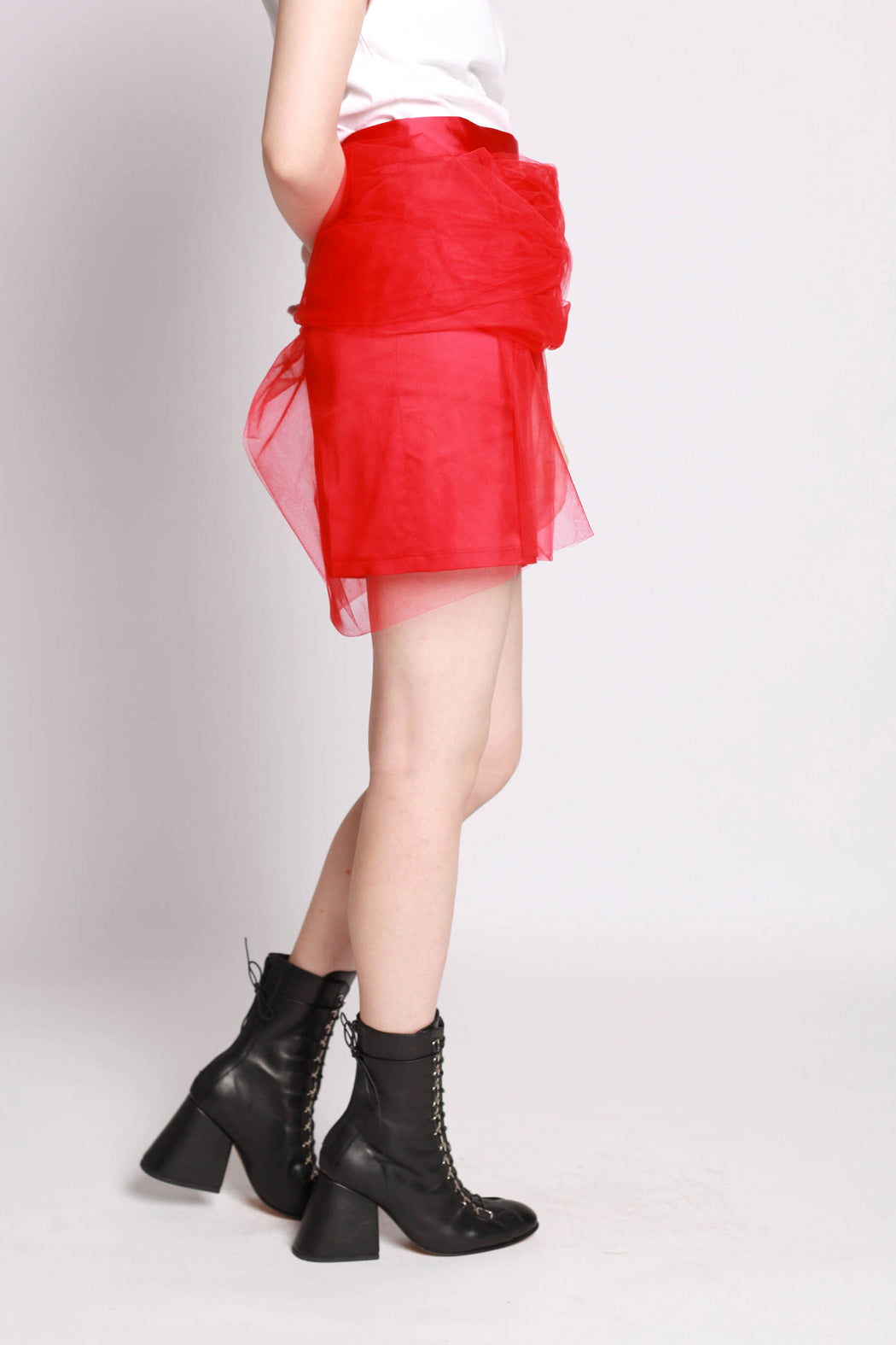 Tulle Skirt - Red
