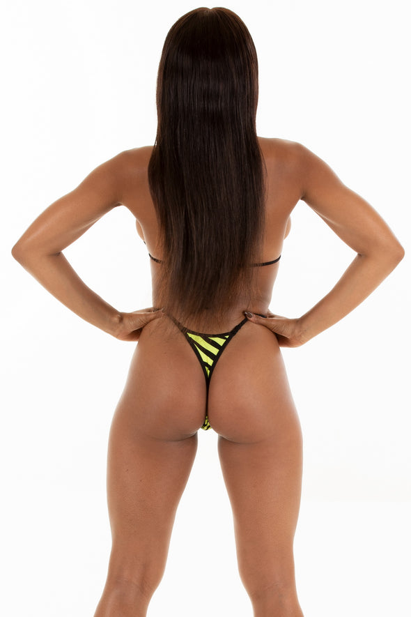 Yellow Zebra Gstring