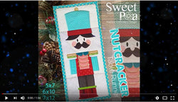 machine embroidery in the hoop Nutcracker design video
