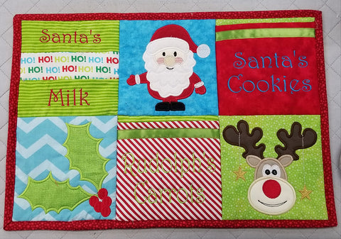 Rudolph's carrots placemat 4x4 5x5 6x6 in the hoop machine embroidery designs