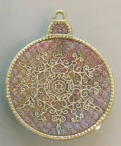 machine embroidery, machine embroidery designs, in the hoop, Christmas, bauble
