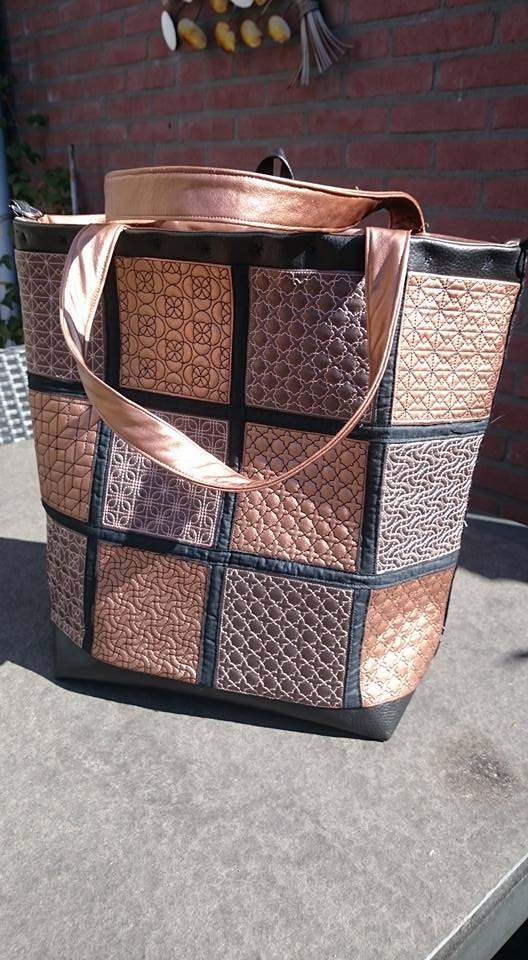 2408 Ellen Hanraads geometric tote bag autumn