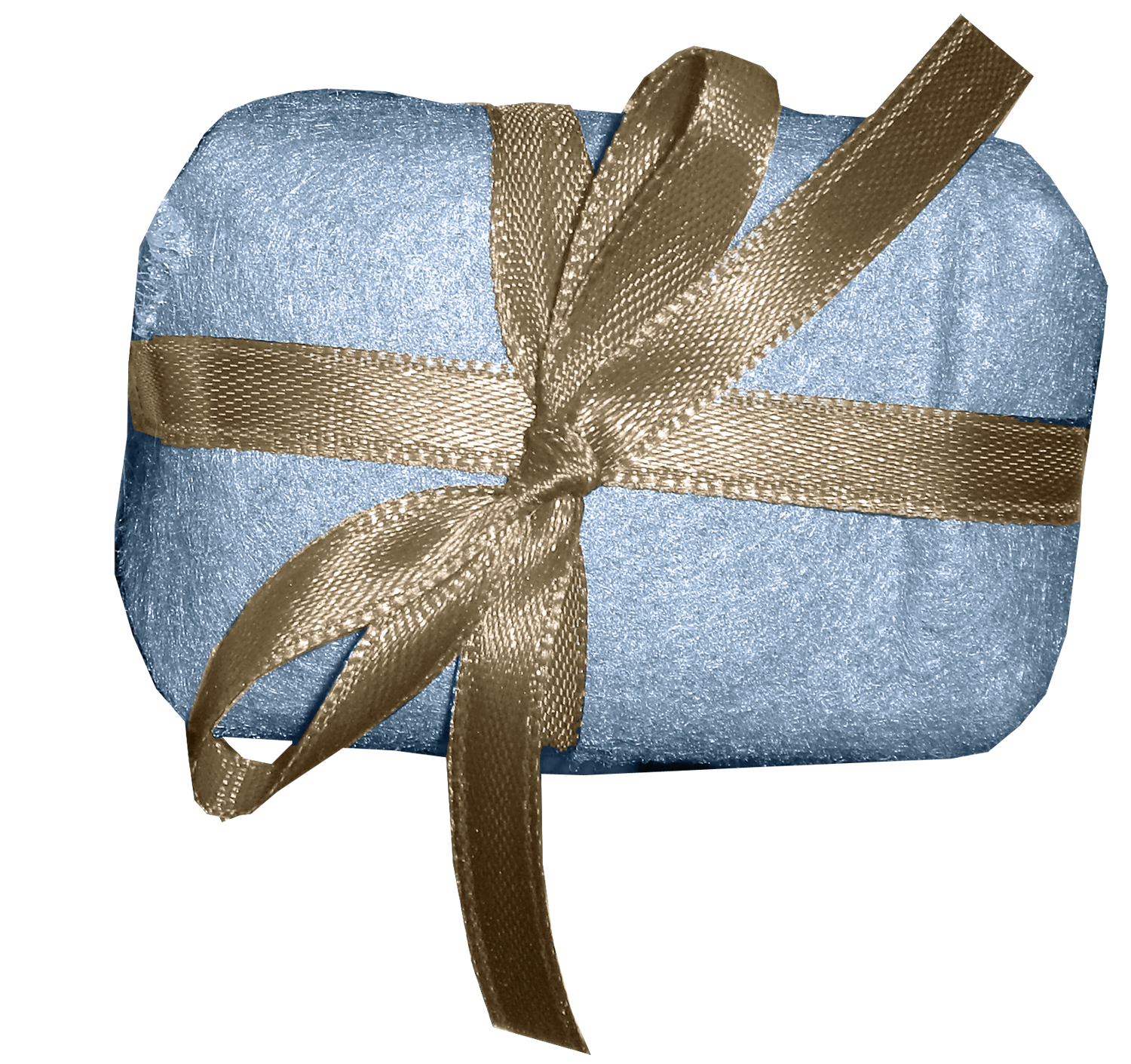 blue gift with bow