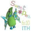 small Pterodactyl stuffed toy ith in the hoop machine embroidery design
