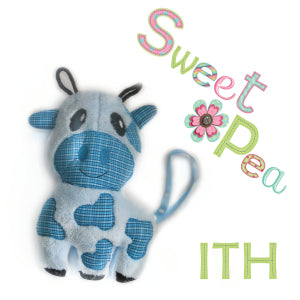 Cow  ith in the hoop stuffed toy machine embroidery design