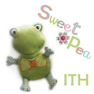 frog ith in the hoop stuffed toy machine embroidery design