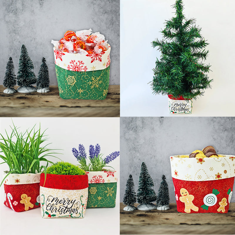 MACHINE EMBROIDERY-Christmas Blessings Basket-5x7-Fill-Instant Download