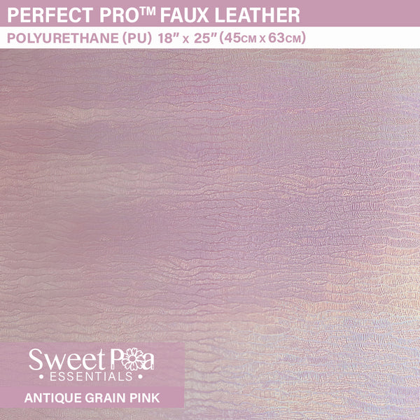 Perfect Pro™ Faux Leather -ANTIQUE GRAIN PINK 0.8mm