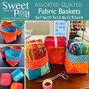 Assorted Quilted Fabric Baskets 5x7 6x10 7x12 8x12 9.5x14